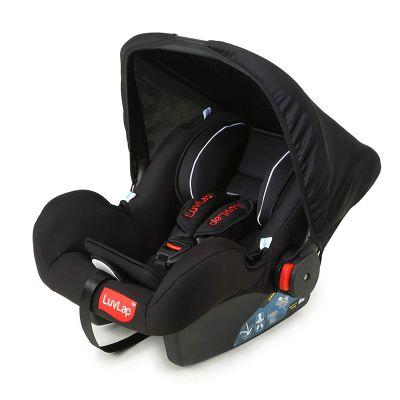 LuvLap Infant Baby Car Seat cum Carry Cot, Black