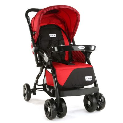 LuvLap Galaxy Baby Stroller, Red/Black
