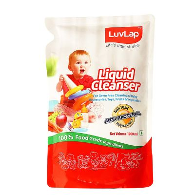 LuvLap Baby Liquid Bottle Cleanser Refill Pack, 1 L