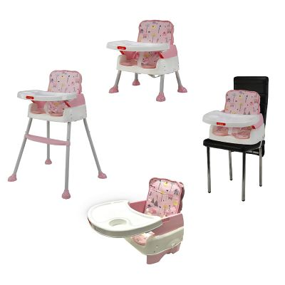 4-in-1 Baby High Chair, Pink