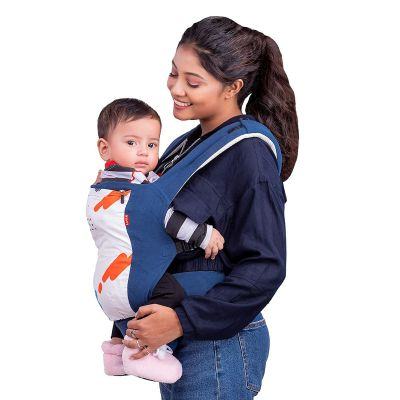 Luvlap Adore Baby Carrier with 3 carry positions, for 6 to 24 months baby, Max weight Up to 18 Kgs (Blue)