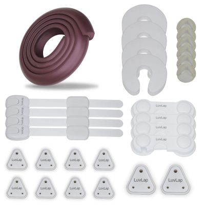 Baby Safety Combo Pack 2 Metre Edge Protectors 4 Door Stoppers 6 Corner Guards 4 Cabinet Locks 4 Safety Locks 10 Socket Covers Baby Safety Essential